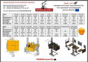 Б/у строительные подъёмники, пр-ва Европа
