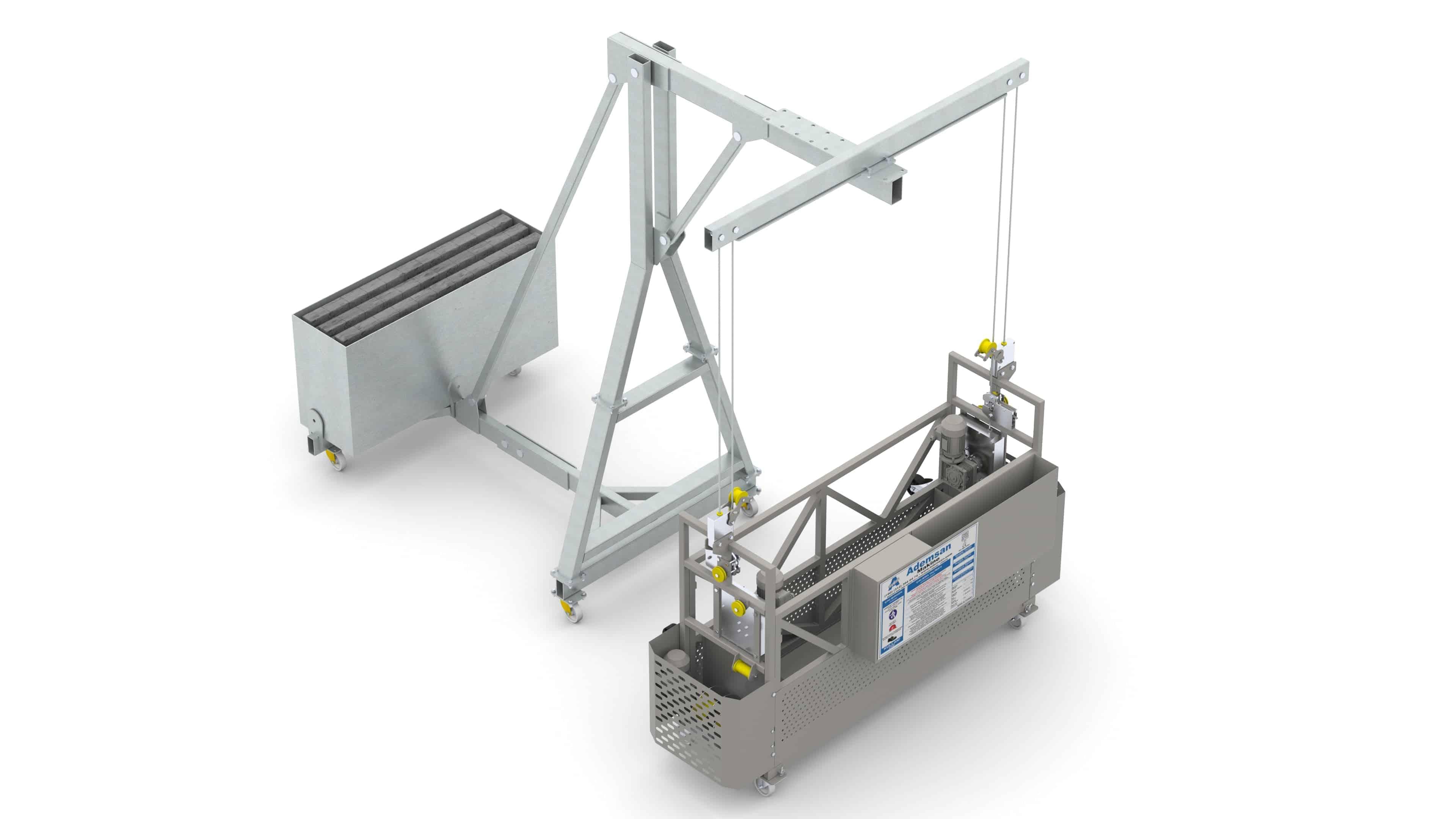 Применение килевых систем BMU для обслуживания фасадов зданий